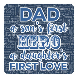 My Father My Hero Square Decal (Personalized)