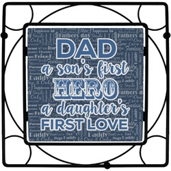 My Father My Hero Square Trivet (Personalized)