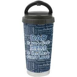 My Father My Hero Stainless Steel Travel Mug (Personalized)