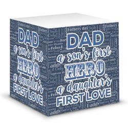 My Father My Hero Sticky Note Cube (Personalized)