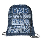 My Father My Hero Drawstring Backpack (Personalized)