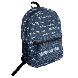 My Father My Hero Student Backpack (Personalized)