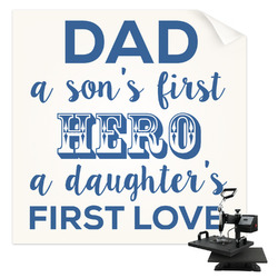 My Father My Hero Sublimation Transfer (Personalized)