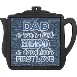 My Father My Hero Teapot Trivet (Personalized)