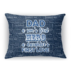 My Father My Hero Rectangular Throw Pillow Case (Personalized)