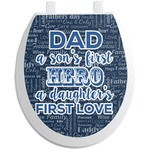 My Father My Hero Toilet Seat Decal (Personalized)