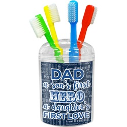 My Father My Hero Toothbrush Holder (Personalized)