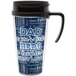 My Father My Hero Travel Mug with Handle (Personalized)