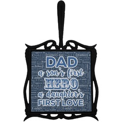 My Father My Hero Trivet with Handle (Personalized)