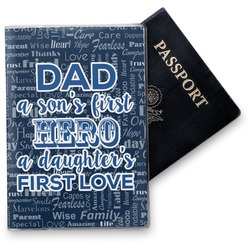 My Father My Hero Vinyl Passport Holder (Personalized)