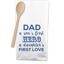 My Father My Hero Waffle Weave Kitchen Towel (Personalized)