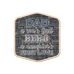 My Father My Hero Genuine Maple or Cherry Wood Sticker (Personalized)