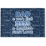 My Father My Hero Woven Mat (Personalized)