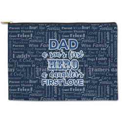 My Father My Hero Zipper Pouch (Personalized)