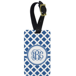 Diamond Metal Luggage Tag w/ Monogram