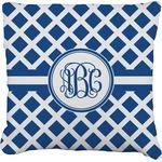 Diamond Faux-Linen Throw Pillow (Personalized)