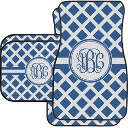 Diamond Car Floor Mats Set - 2 Front & 2 Back (Personalized)