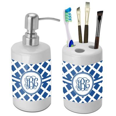 Diamond Bathroom Accessories Set Ceramic Personalized