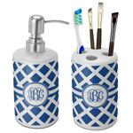 Diamond Bathroom Accessories Set (Ceramic) (Personalized)