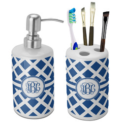 Diamond Ceramic Bathroom Accessories Set (Personalized)