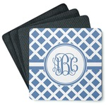 Diamond 4 Square Coasters - Rubber Backed (Personalized)