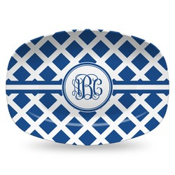 Diamond Plastic Platter - Microwave & Oven Safe Composite Polymer (Personalized)