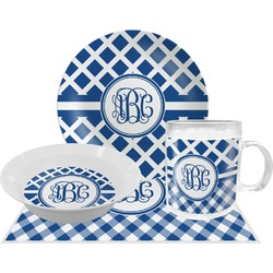Diamond Dinner Set - 4 Pc (Personalized)