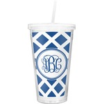 Diamond Double Wall Tumbler with Straw (Personalized)