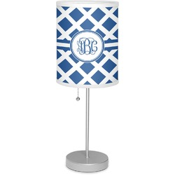 """Diamond 7"""" Drum Lamp with Shade Linen (Personalized)"""