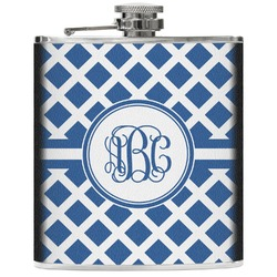 Diamond Genuine Leather Flask (Personalized)