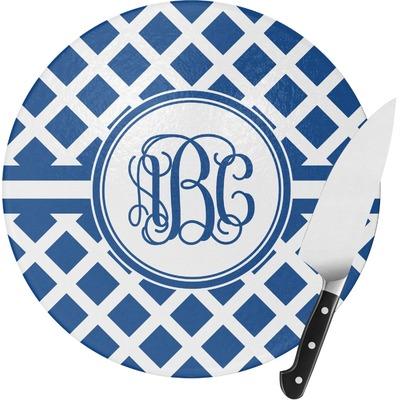 Diamond Round Glass Cutting Board (Personalized)