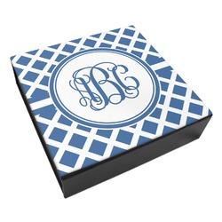 Diamond Leatherette Keepsake Box - 3 Sizes (Personalized)
