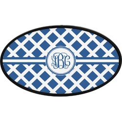 Diamond Oval Trailer Hitch Cover (Personalized)