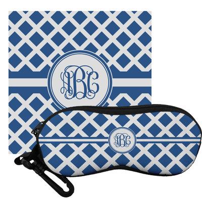 Diamond Eyeglass Case & Cloth (Personalized)