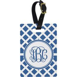 Diamond Rectangular Luggage Tag (Personalized)