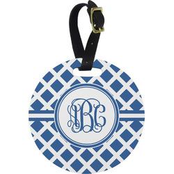 Diamond Round Luggage Tag (Personalized)