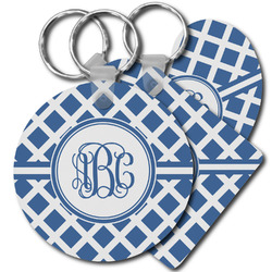 Diamond Plastic Keychains (Personalized)