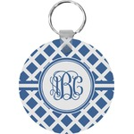 Diamond Round Plastic Keychain (Personalized)
