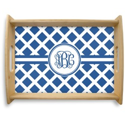 Diamond Natural Wooden Tray - Large (Personalized)
