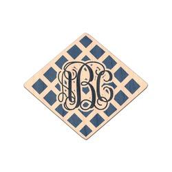 Diamond Genuine Maple or Cherry Wood Sticker (Personalized)