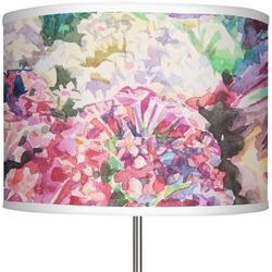 """Watercolor Floral 13"""" Drum Lamp Shade"""