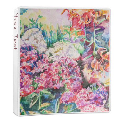Watercolor Floral 3-Ring Binder - 1 inch