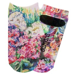 Watercolor Floral Adult Ankle Socks