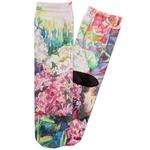 Watercolor Floral Adult Crew Socks