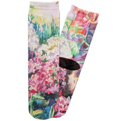 Watercolor Floral Adult Crew Socks