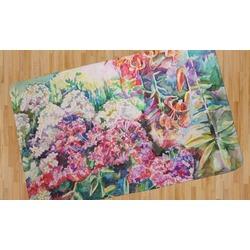 Watercolor Floral Area Rug