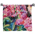 Watercolor Floral Bath Towel