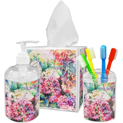 Watercolor floral toothbrush holder youcustomizeit for Floral bath accessories