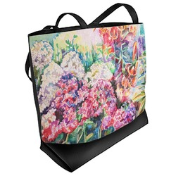 Watercolor Floral Beach Tote Bag