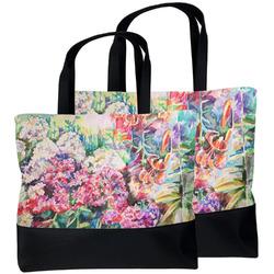 Watercolor Floral Beach Tote Bag